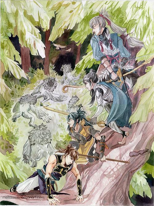 Wolfskin Peak ORIGINAL watercolor