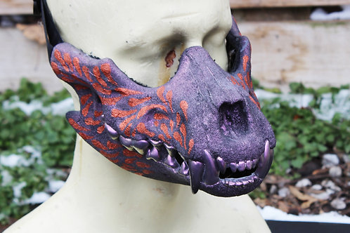 Canine Skull Half Mask - Copper splash