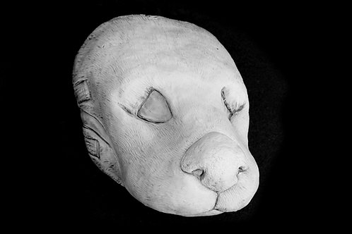 Realistic Otter Fursuit Mask Resin Blank with Moving Jaw