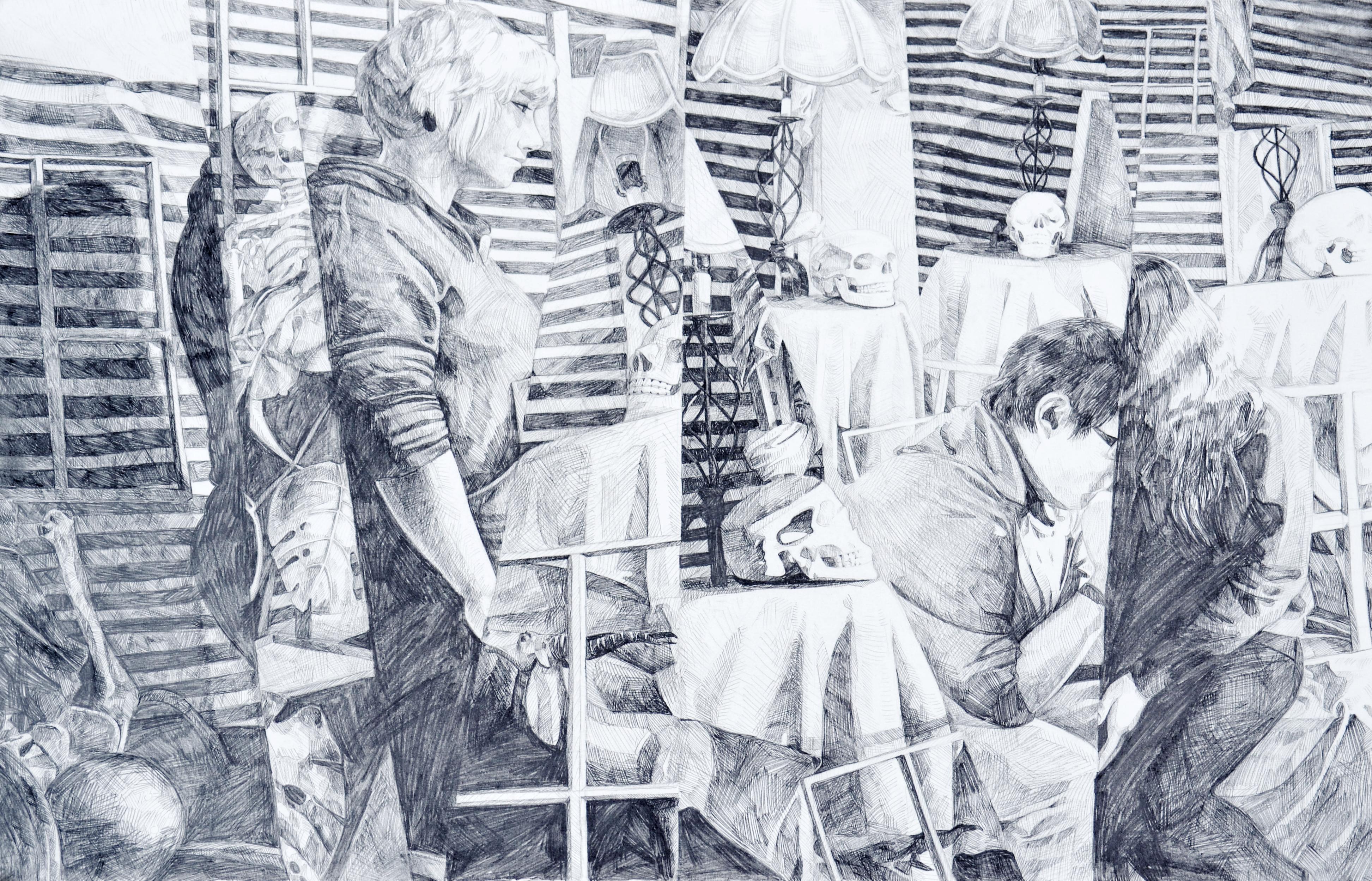 Final collage - graphite - 22x30