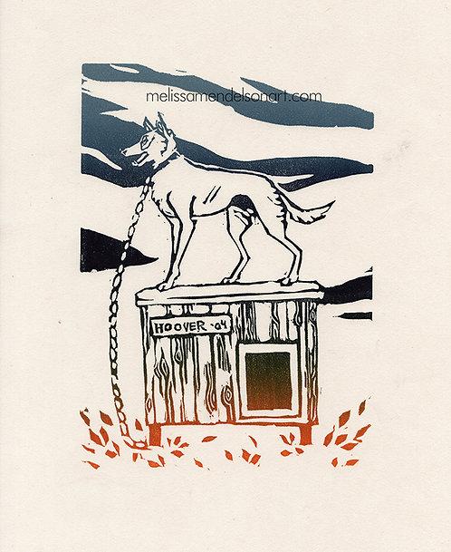 Linoprint - Miss Lou Hoover