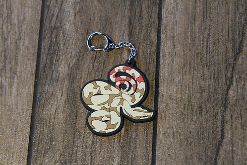 Red Tail Boa Rubber Keychain