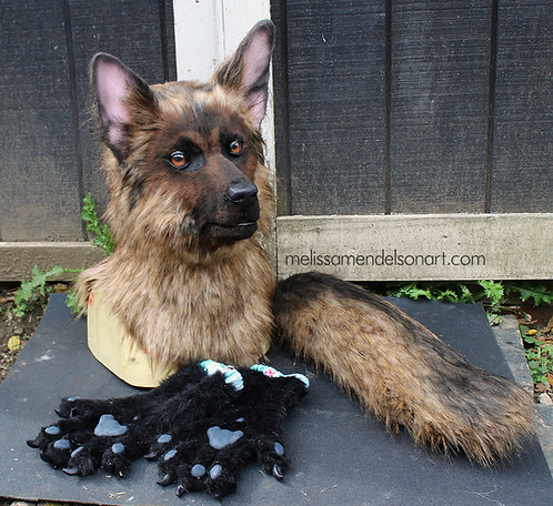 German Shepherd Fursuit Partial
