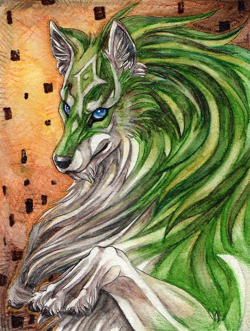 Wolf Link Legend of Zelda watercolor
