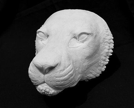 Realistic Big Cat Paintable Mask Resin Blank