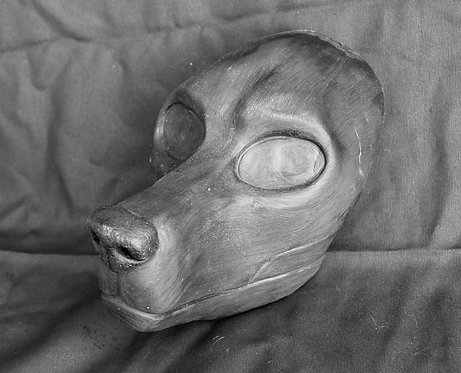 Realistic Domestic Canine Fursuit Mask Resin Blank with Moving Jaw