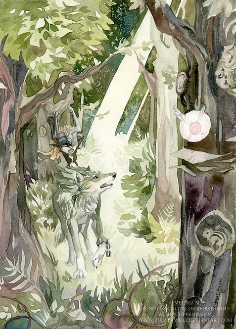 Faron Woods ORIGINAL watercolor