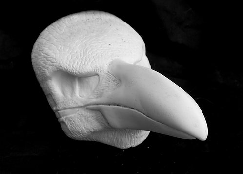 Realistic Raven Fursuit Mask Resin Blank with Moving Jaw