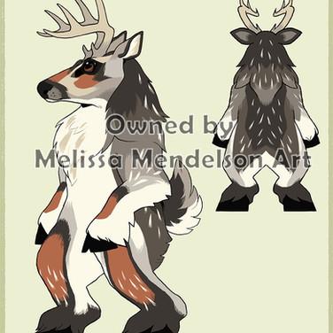 Deer burgundy silver fur by bierdz