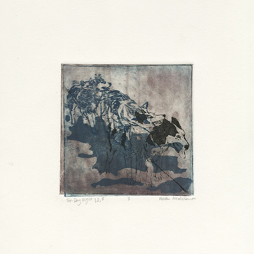 Two-Dog Night 1, 2, 5 - intaglio