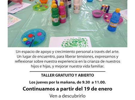Continuamos con el taller de arteterapia para familias en el Vicente Aleixandre