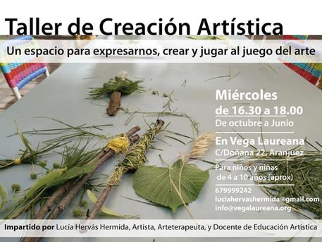 Taller de creación artística en Vega Laureana