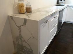 marble look countertop