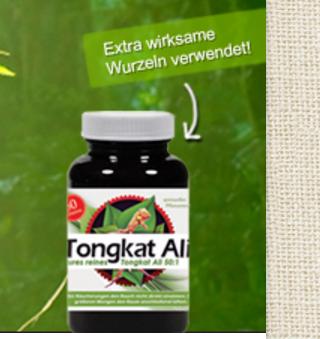Werbeaussagen Tongkat Ali Blitz