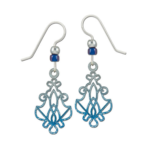 Open Silver and Blue Design