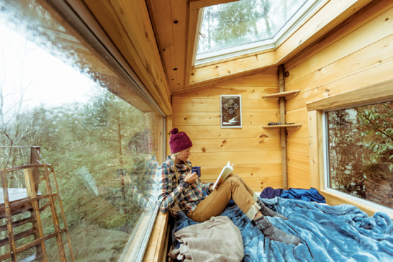 The Observatory is one of three tree house rentals built by The Canopy Crew in Red River Gorge.