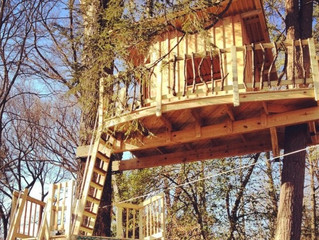 Popular Woodworking Magazine: On Building Treehouses