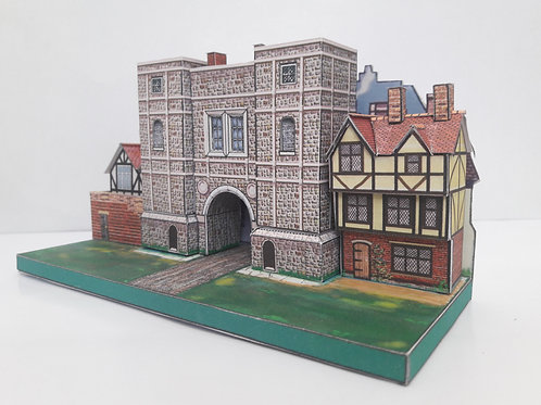 ALDGATE HISTORIC LONDON GATES A5 FULL COLOUR CARD MODEL KIT N GAUGE 2mm