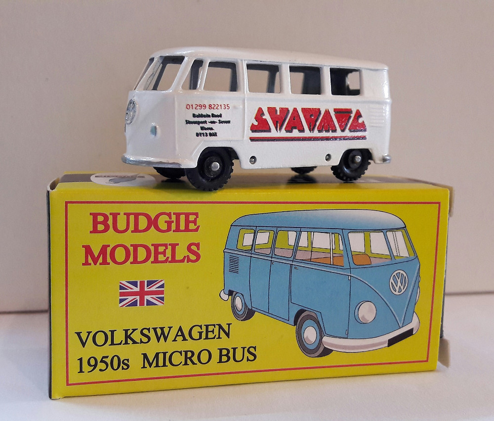 SHARMIC BUDGIE TOYS DIECAST METAL MODEL VW VOLKSWAGEN MICROBUS 1950s 1:76 SCALE MADE IN ENGLAND SHARMIC