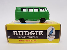 Budgie Models VW 1950s Micro Bus no. 12 in green