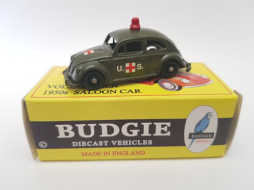 Budgie Models VW 1950s Saloon Car no. 8 U.S. Military Ambulance
