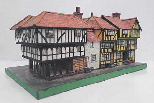 A5 FULL COLOUR CARD MODEL KIT GUILD HALL DICK TURPIN'S COTTAGE THAXTED FAMOUS HISTORIC BUILDINGS