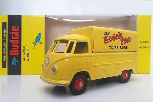 BUDGIE TOYS DIECAST METAL MODEL VW SINGLE CAB PICK UP TRUCK NO. 204 1:43 SCALE MADE IN ENGLAND KODAK