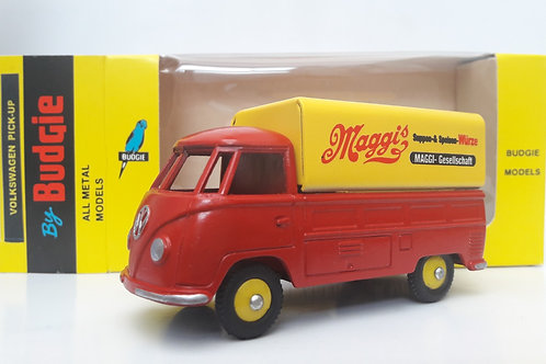 BUDGIE TOYS DIECAST METAL MODEL VW SINGLE CAB PICK UP TRUCK NO. 204 1:43 SCALE MADE IN ENGLAND MAGGI