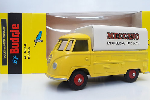 BUDGIE TOYS DIECAST METAL MODEL VW SINGLE CAB PICK UP TRUCK NO. 204 1:43 SCALE MADE IN ENGLAND MECCANO