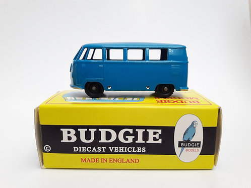 BUDGIE TOYS DIECAST METAL MODEL VW VOLKSWAGEN NO.12 MICRO BUS 1:76 SCALE MADE IN ENGLAND BLUE