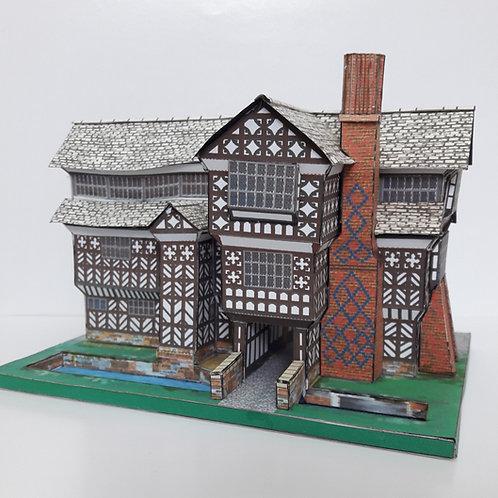 A5 FULL COLOUR CARD MODEL KIT LITTLE MORETON HALL CONGLETON CHESHIRE FAMOUS HISTORIC BUILDINGS