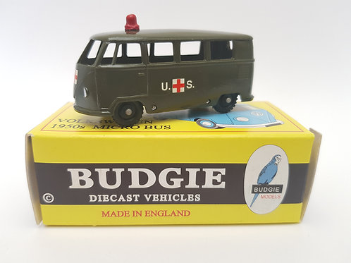 Budgie Models VW 1950s Micro Bus no. 12 U.S. Military Ambulance
