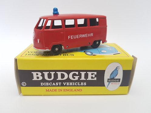 Budgie Models VW 1950s Micro Bus no. 12 Feuerwehr