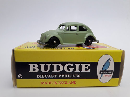 BUDGIE TOYS DIECAST METAL MODEL MADE IN ENGLAND VW BEETLE NO.8 VOLKSWAGEN SALOON CAR 1:76 SCALE GREEN