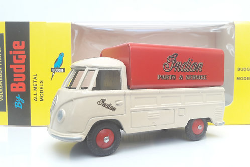 BUDGIE TOYS DIECAST METAL MODEL VW SINGLE CAB PICK UP TRUCK NO. 204 1:43 SCALE MADE IN ENGLAND INDIAN MOTORCYCES