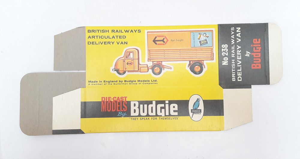 BUDGIE TOYS DIECAST METAL MODEL 238 British Railways Articulated Delivery Van Scammell Scarab ORIGINAL BOX  MADE IN ENGLAND