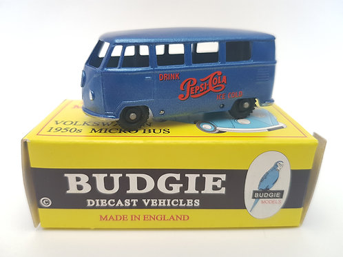 Budgie Models VW 1950s Micro Bus no. 12 Pepsi Cola