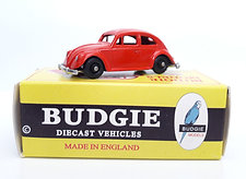 Budgie Models VW 1950s Saloon Car no. 8 in red