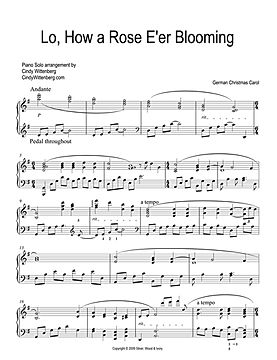 LO HOW A ROSE E'RE BLOOMING Piano Solo p