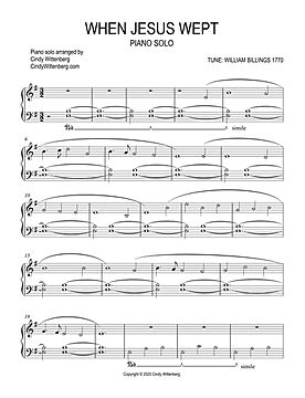 When Jesus Wept piano solo sheet music p