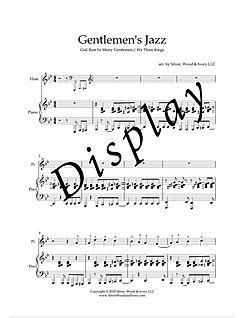 Gentlemen's Jazz Sheet Music page one DI