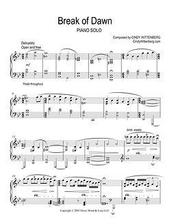 BREAK OF DAWN piano solo sheet music by