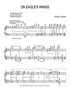 On Eagle's Wings piano solo sample page
