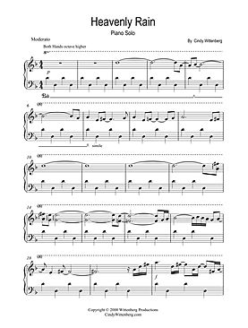 Heavenly Rain solo piano sample page 4-4