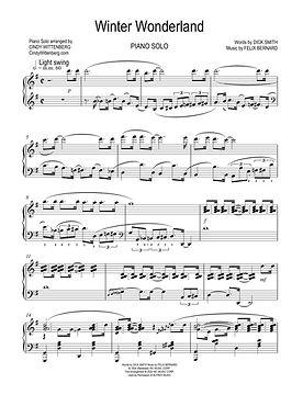 Winter Wonderland Piano Solo Sheet Music