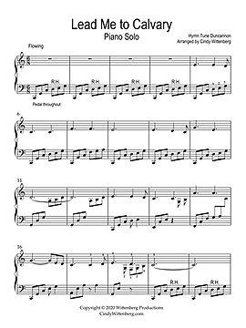 Lead me to Calvary piano solo sheet musi