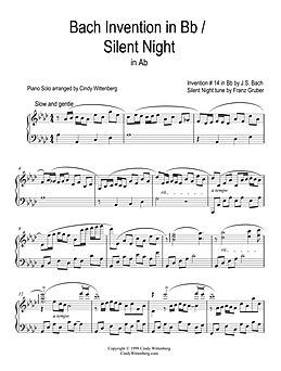 Bach Invention in Bb - Silent Night Pian