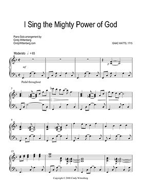 I Sing the Mighty Power of God Piano Sol
