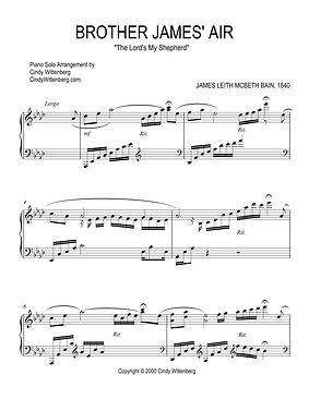 BROTHER JAMES' AIR Piano Solo Sheet Musi