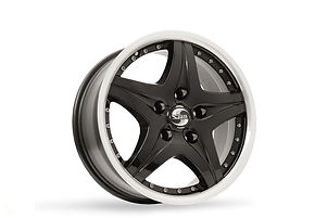 SP28 - Black Polished Rim Silver Rivets.